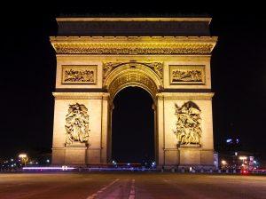 Arco del triunfo de noche
