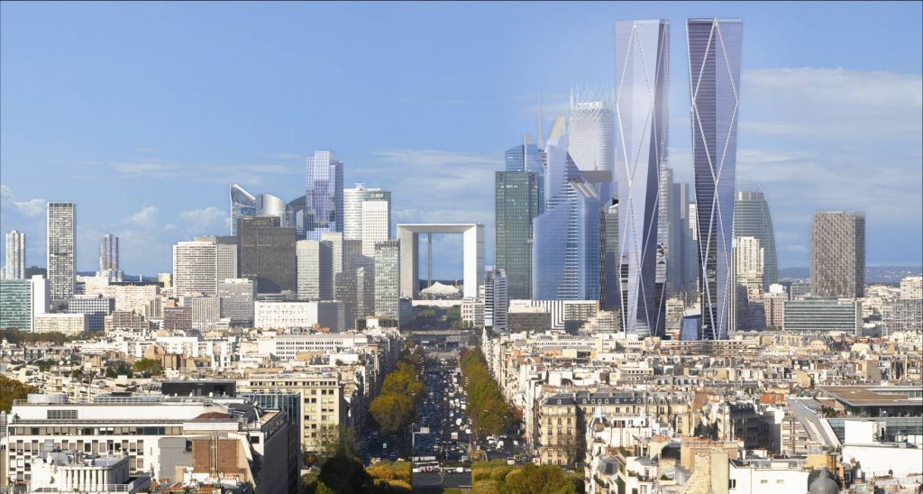 La defense vista panoramica