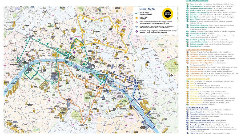 Mapa Paris L'OpenTour