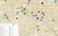 Mapa de atracciones Paris