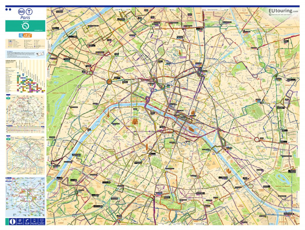 Mapa del bus e paris
