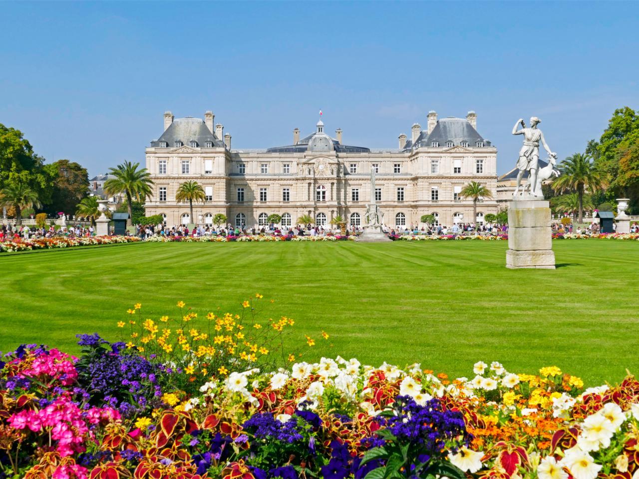 Palacio y jardin de luxemburgo sede del senado de for Paris jardin