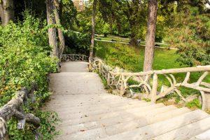 Parque Montsouris escaleras