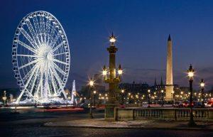 Place de la concorde Paris de noche