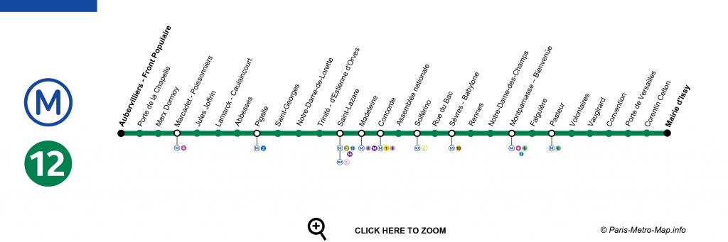 Plano linea 12 metro de paris