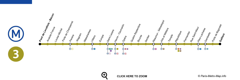 L nea 3 metro de par s descubriparis - Paris gallieni porte bagnolet google map ...