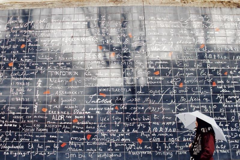 Muro del amor en París